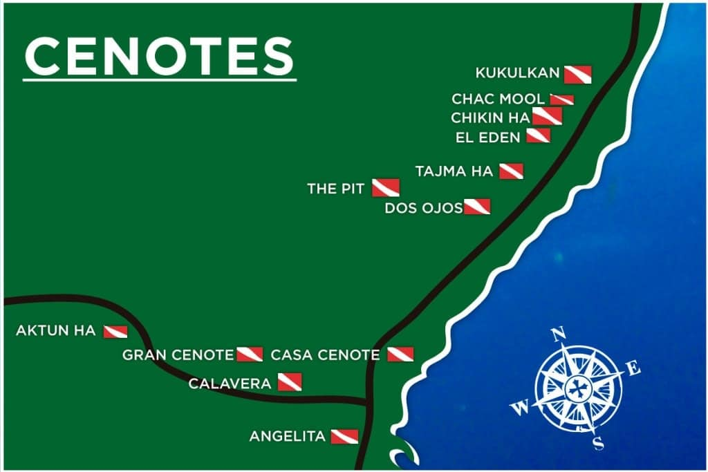 Cenote Dive sites