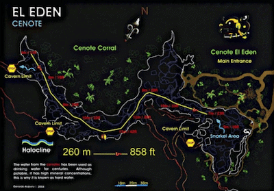 Cenote Eden Map